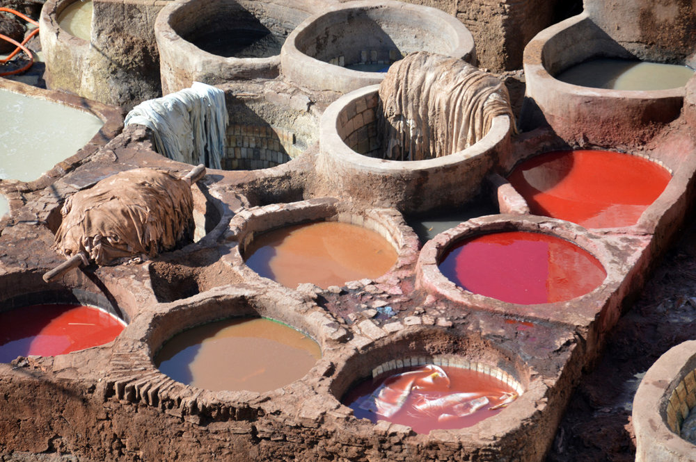 Famous tanneries in Fez
