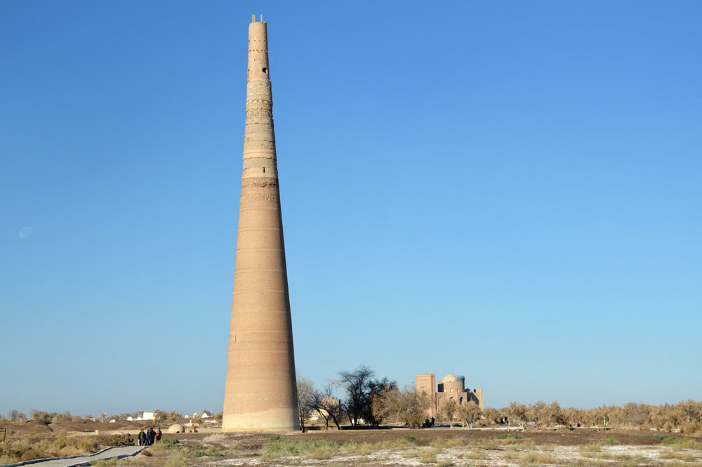 The minaret and Turabek Khanum Mausoleum