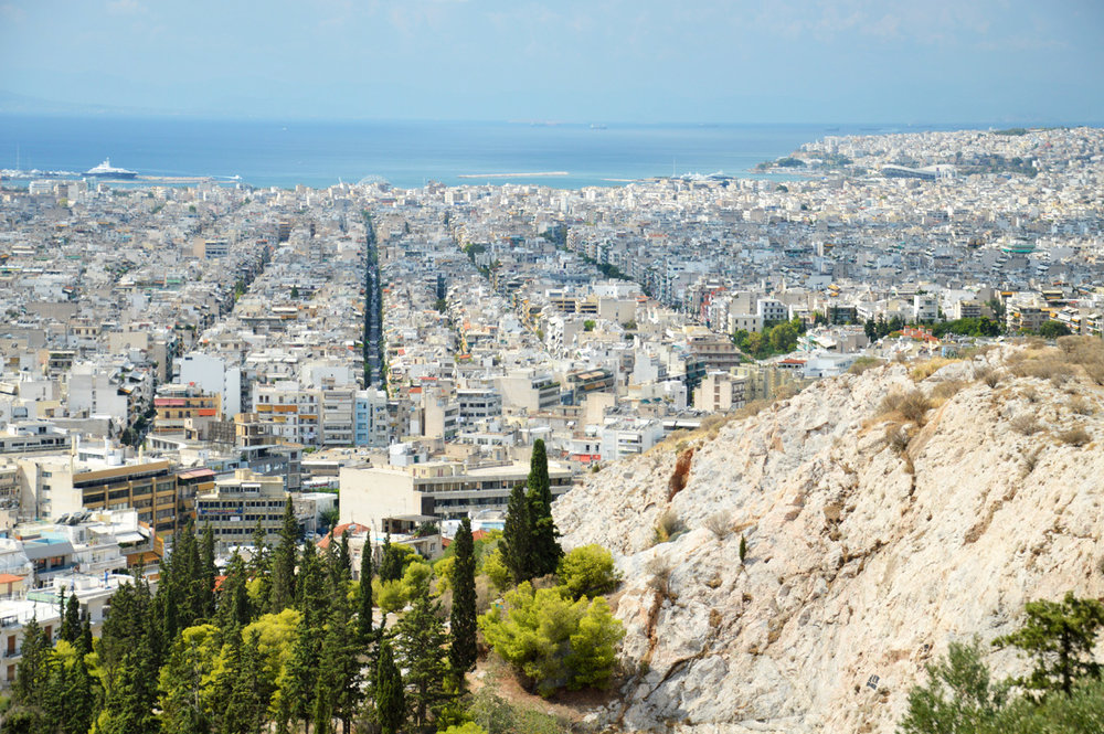 Modern Athens all the way to the port - seen from Philopappos Hill