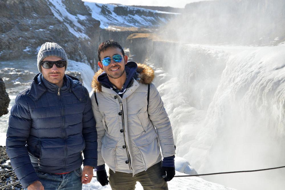 At the Gullfoss Waterfall