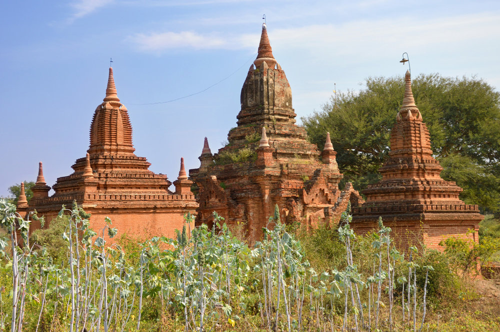 Small temples among the fields