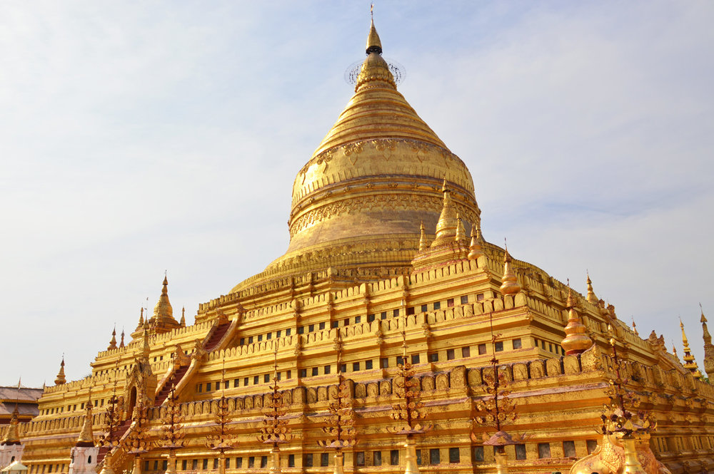 Golden stupa at Shwezigon Temple
