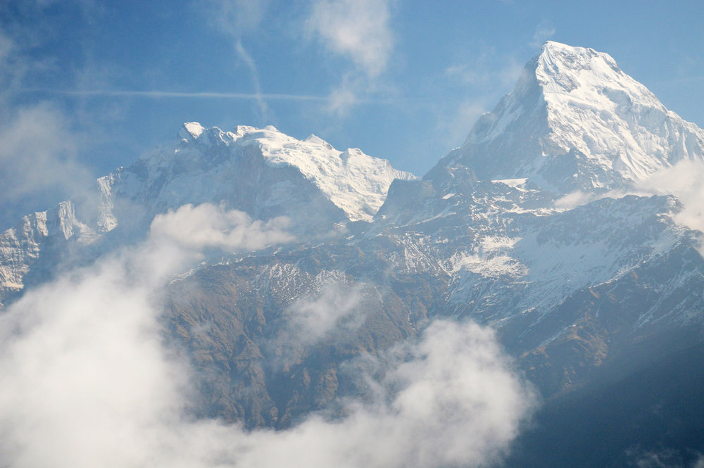 View from Poon Hill - fishtail mountain (nearly 7000 meters above sea level)