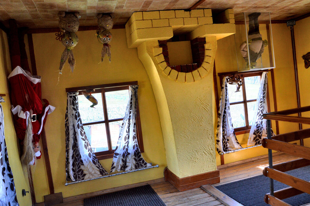 The upside down house inside