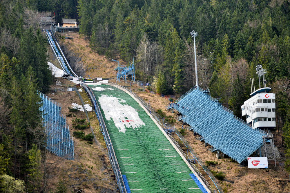 Ski jumping hill - it's much more attractive in winter