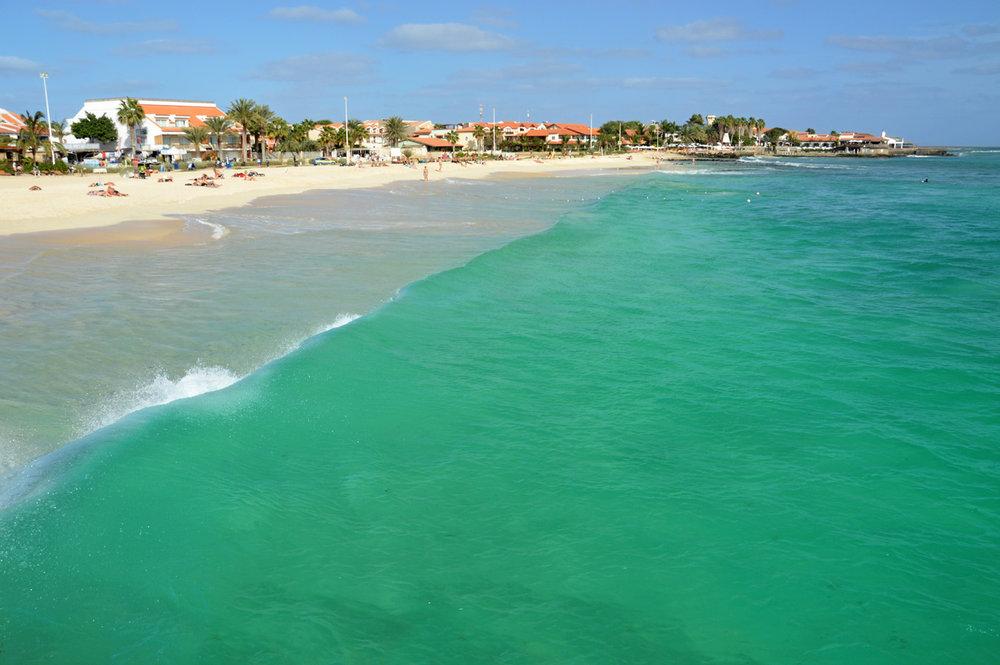 The beach in Santa Maria
