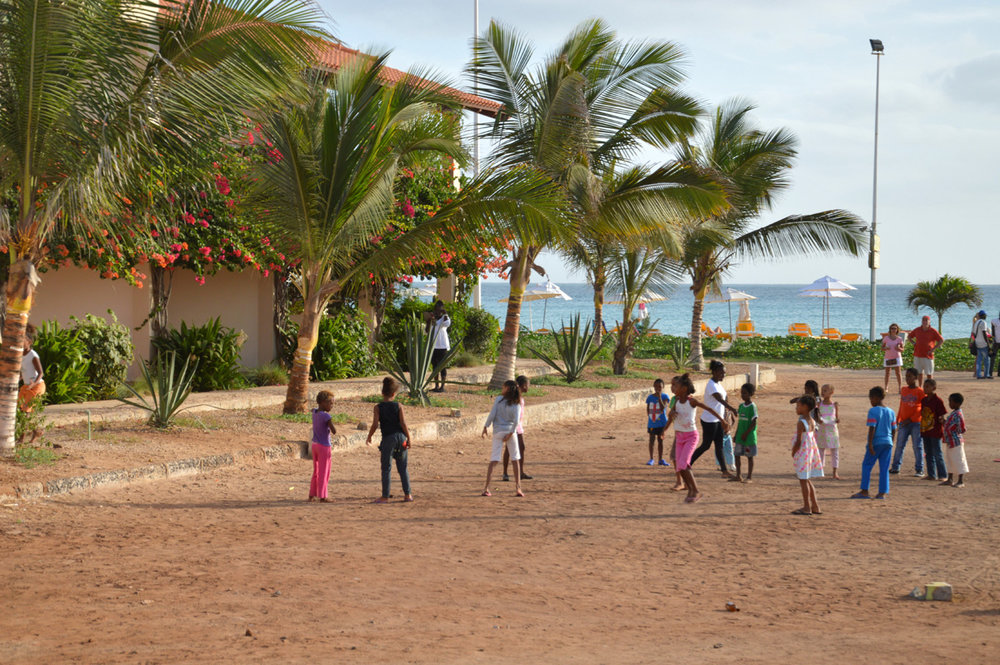 Children playing in Santa Maria