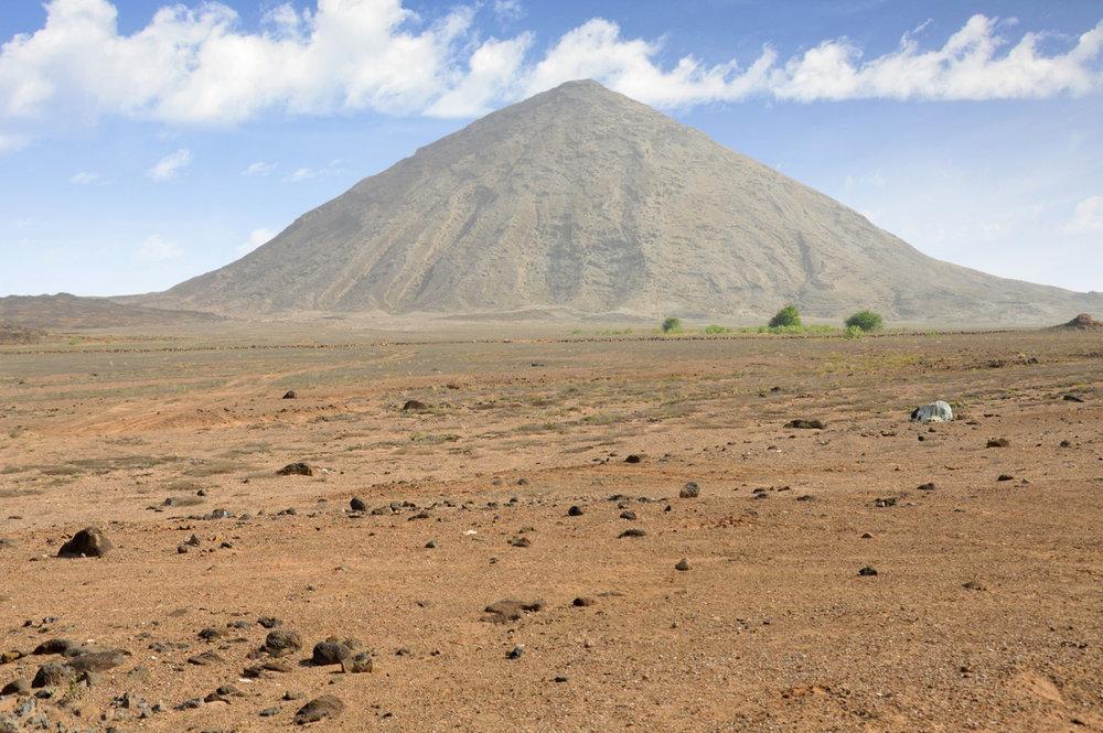 The barren landscape