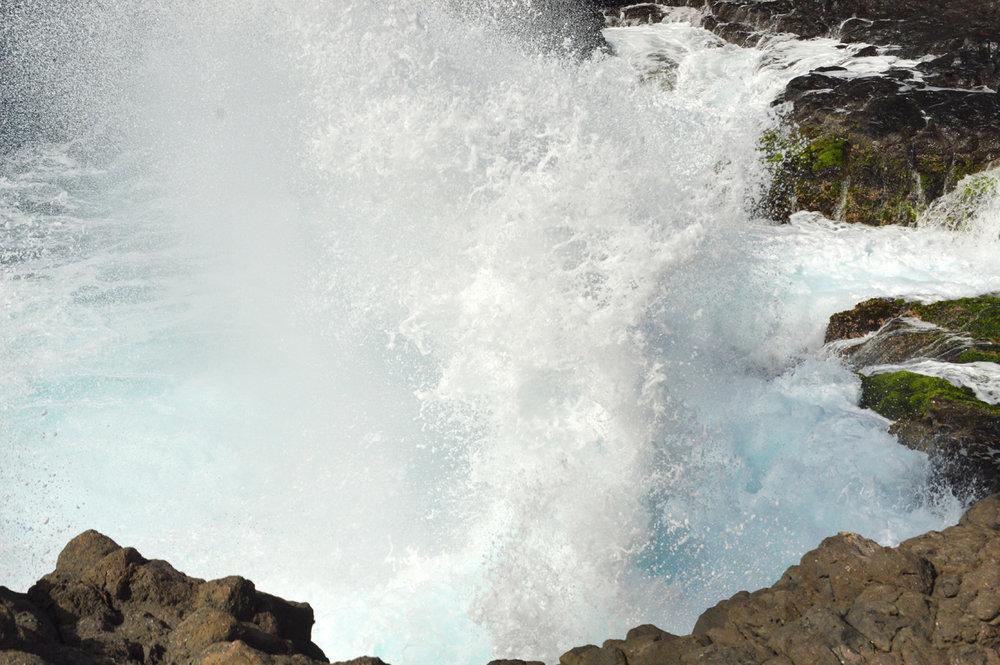 Huge waves at Beracona