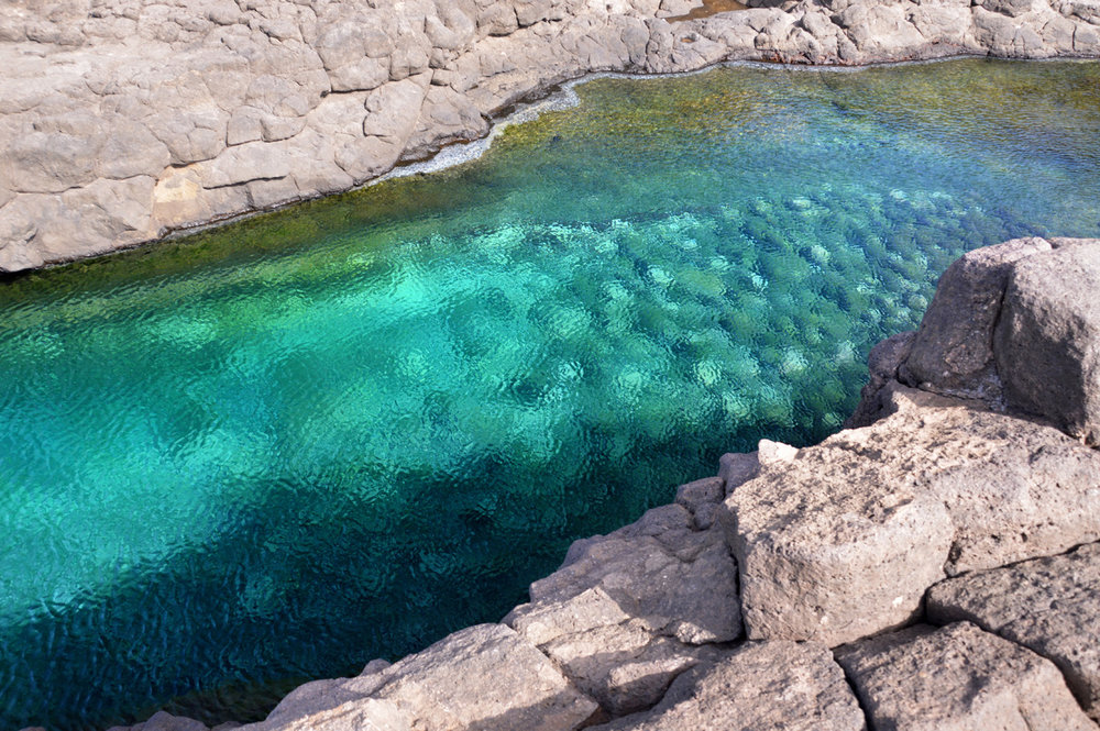 Beautiful color of water