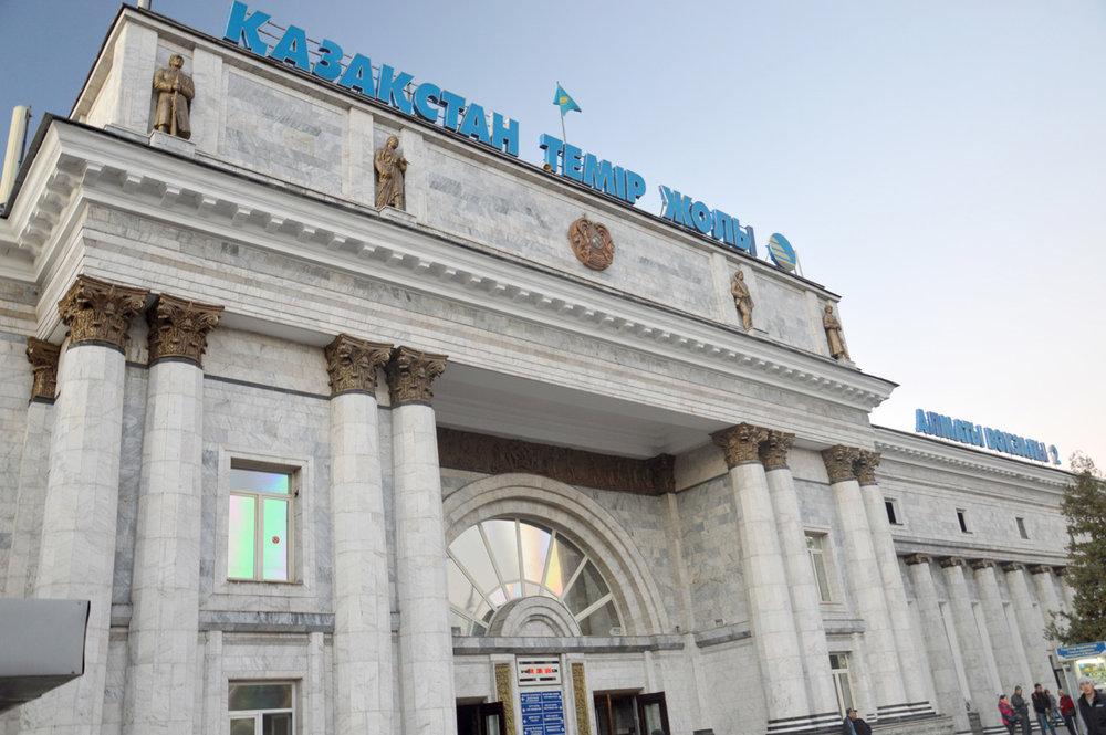 Train station in Almaty
