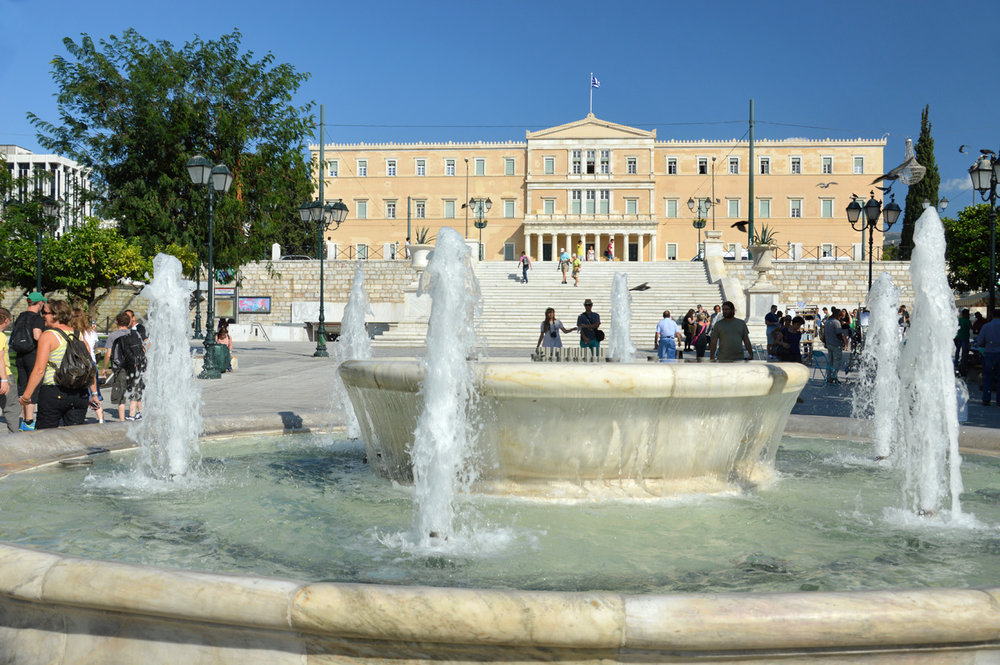 Santygma Square and the Greek Parliament building