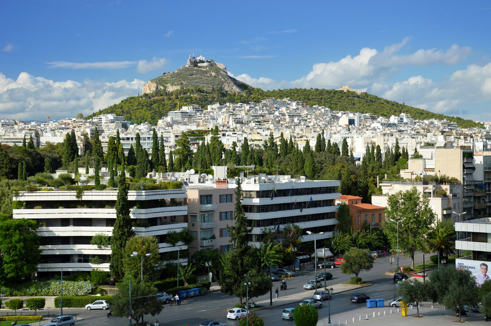 Mt. Lycabettus seen from the stadium