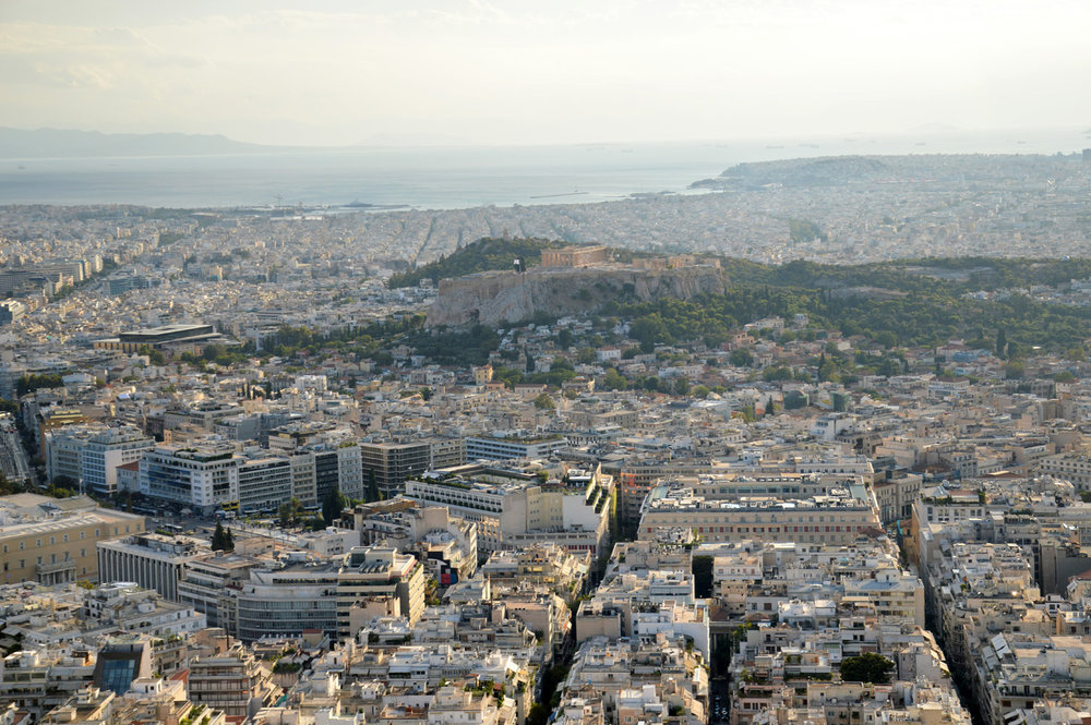 View over the Acropolis Hill all the way to the port