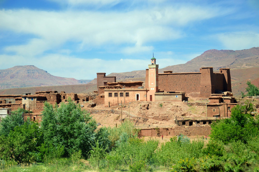 A town in Atlas Mountains