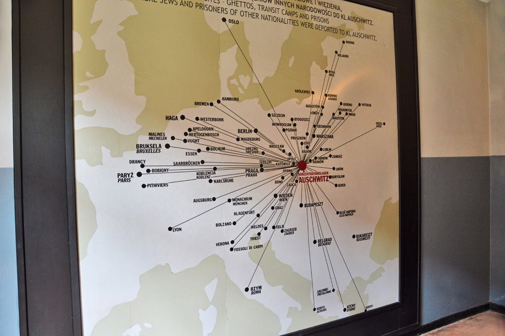Places in Europe from where prisoners were transported