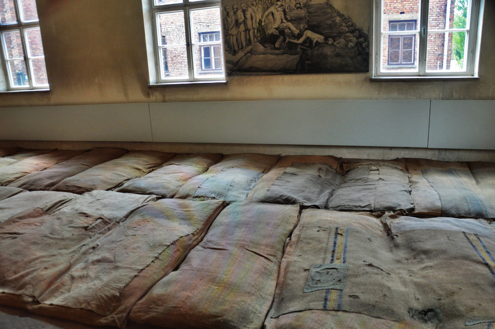 Mattresses in Auschwitz I