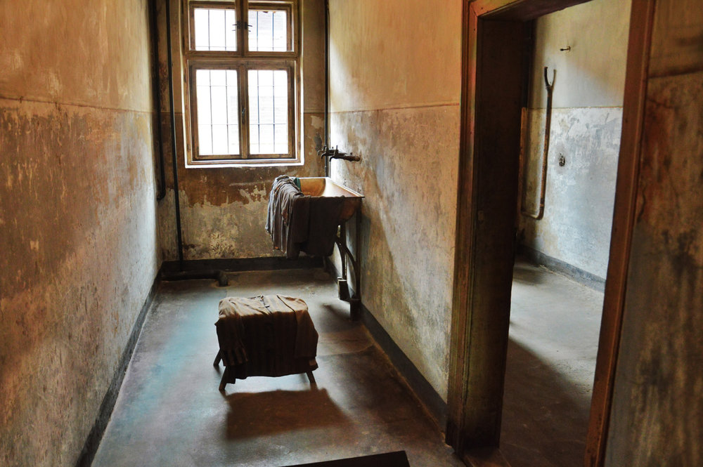 Washrooms in Auschwitz I