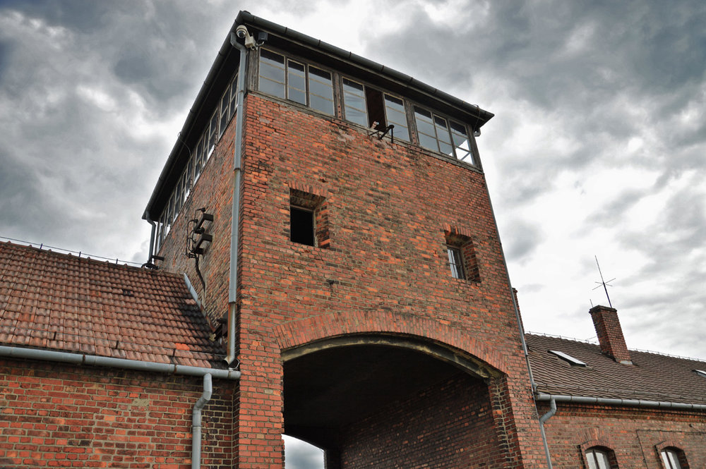 Guard tower in Birkenau
