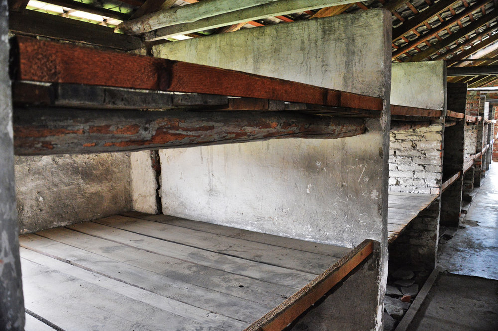 Bunk beds in Birkenau