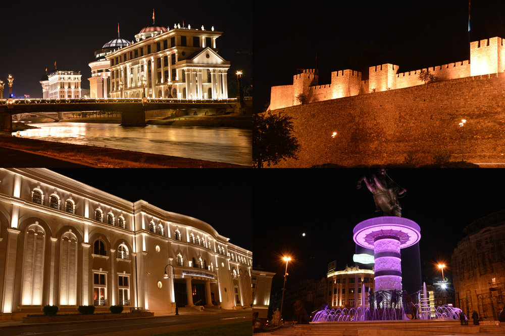 Skopje at night
