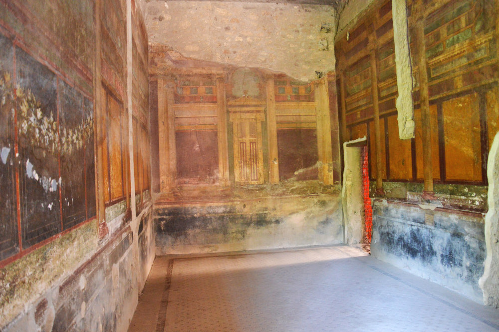 Beautiful frescoes in the House of the Faun