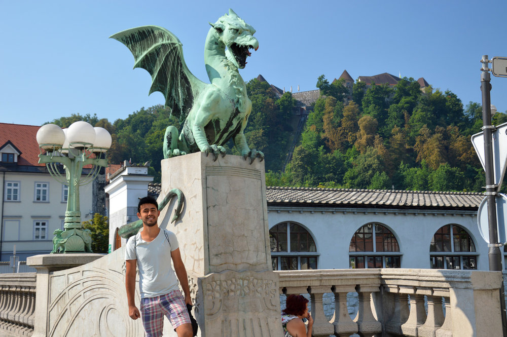 At the Dragon Bridge