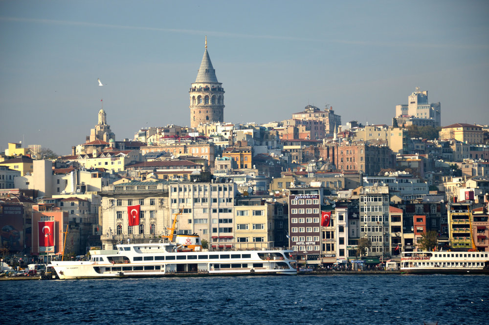 Galata tower in the background