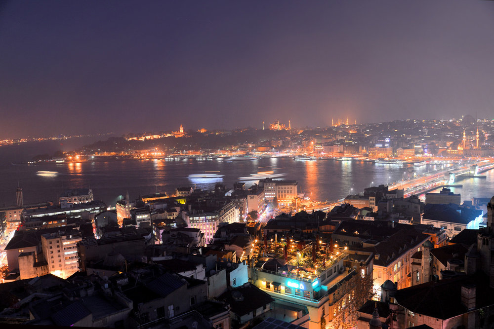 Istanbul at night - view from the Galata Tower
