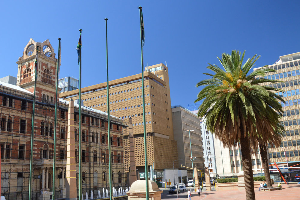 A square in Johannesburg