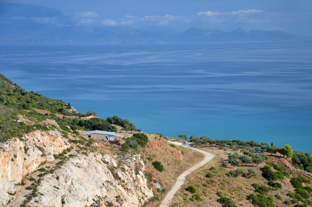 The view over the Ionian Sea