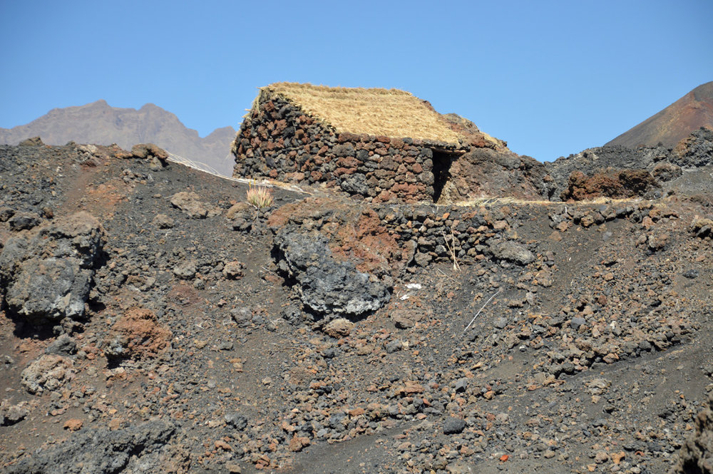 Little house made of volcanic rock