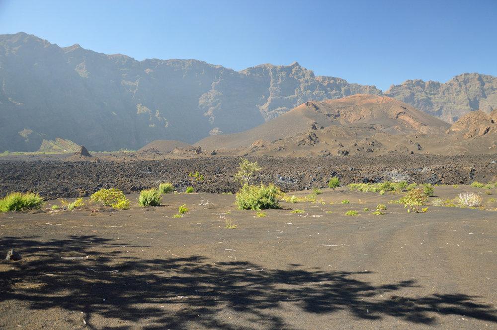 Inside the caldera