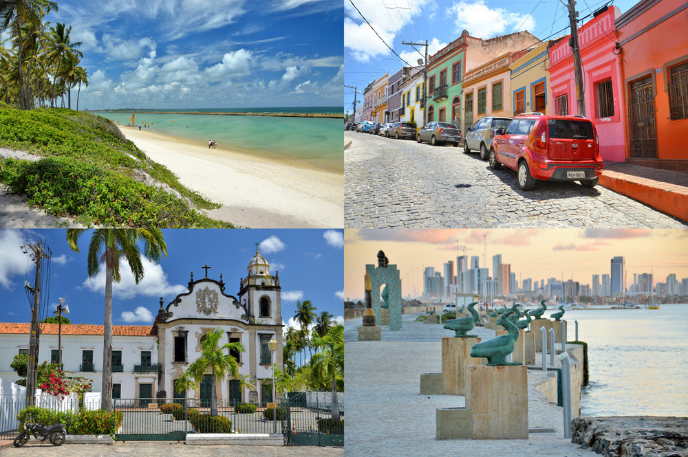 Porto de Galinhas, Olinda and Recife in Brazil