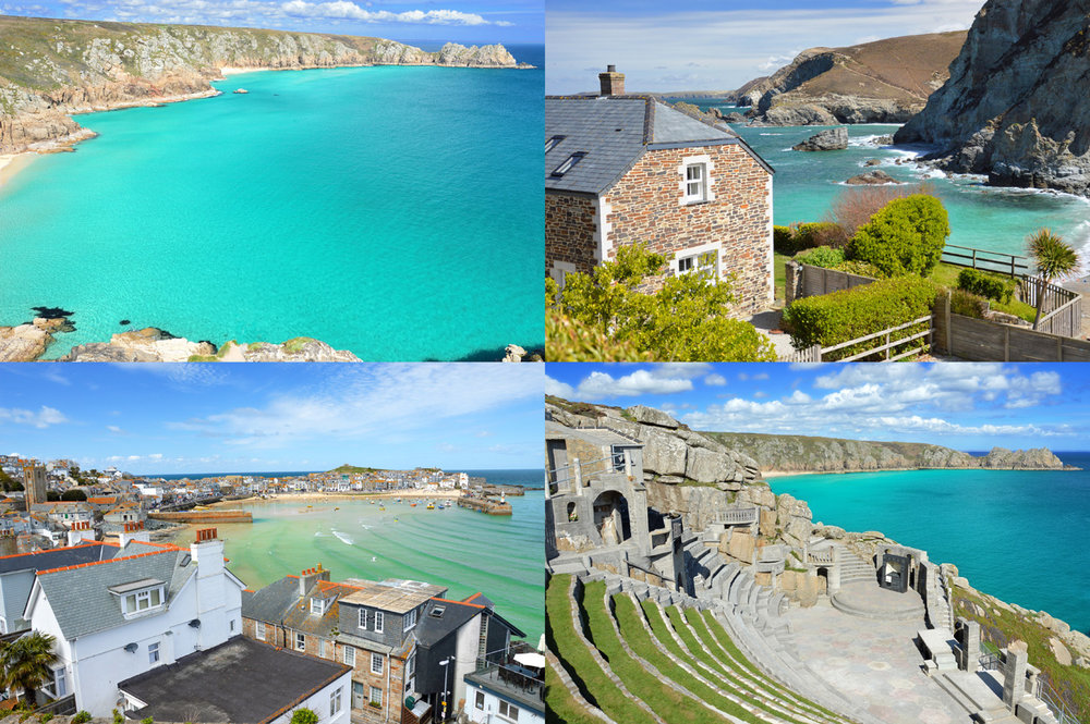 Cornwall in England: Porthcurno, St. Agnes, St. Ives and Minack Theater