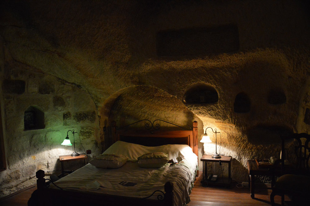 A room in a cave