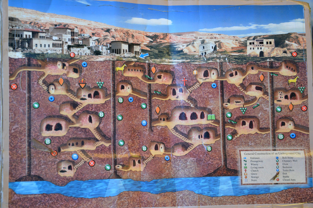 Map of Kaymakli Underground City