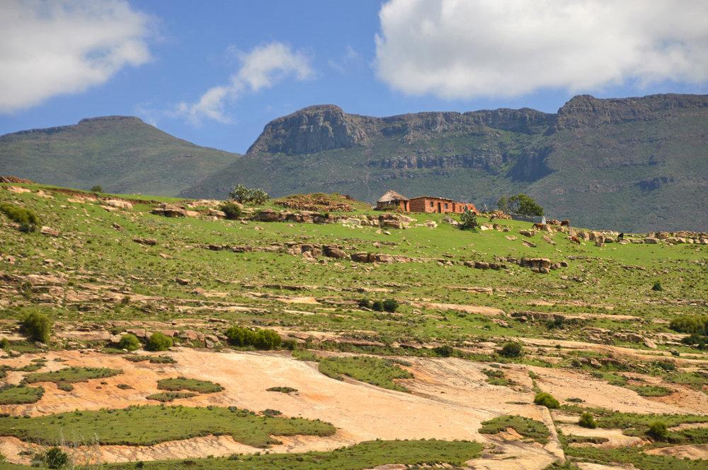 Landscapes in Lesotho