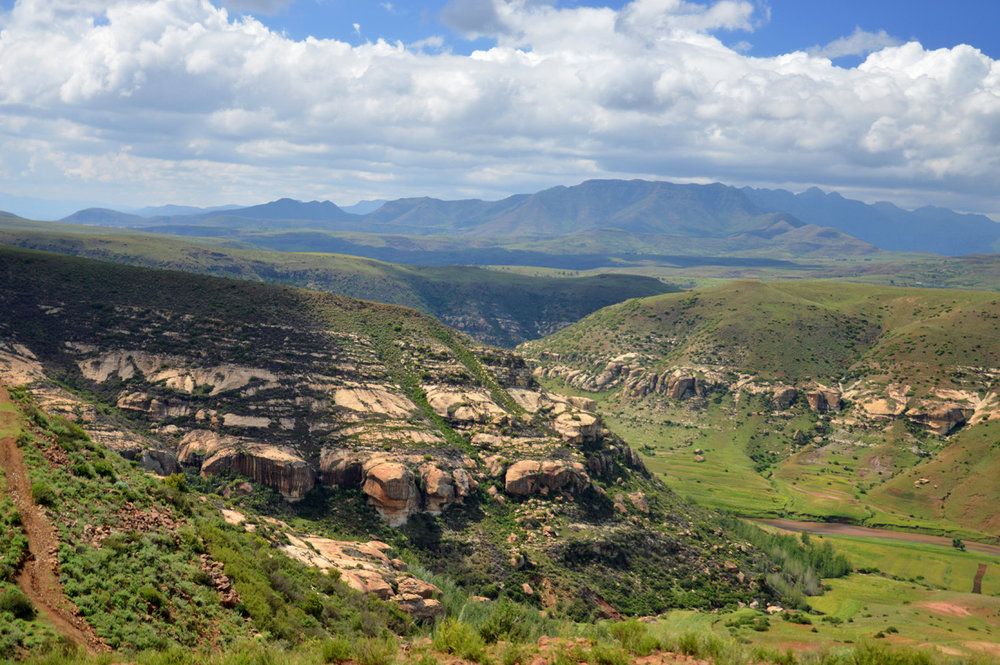 The canyon in Lesotho