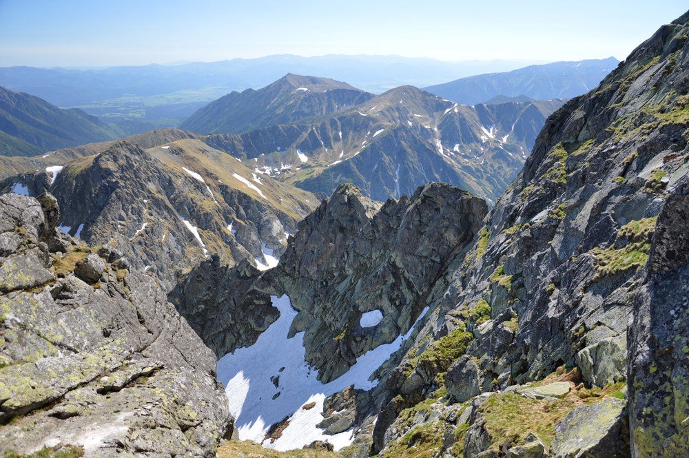 View over Slovakian Tatras