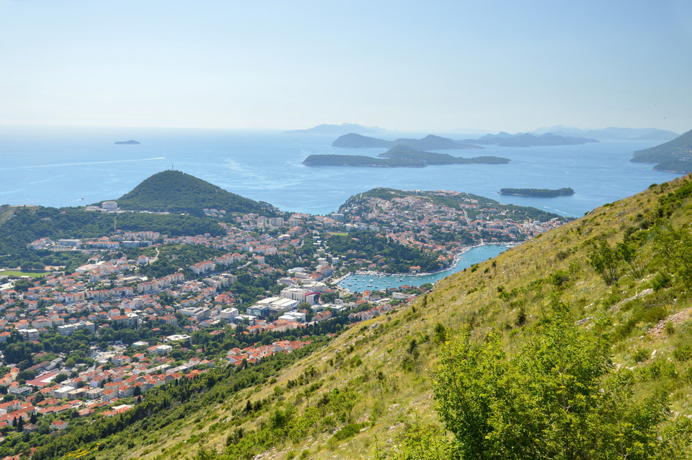 The islands near Dubrovnik