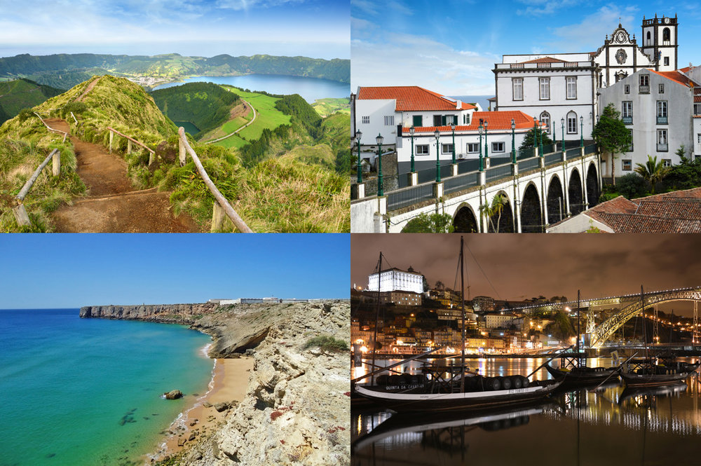 Portugal: Seti Sidades in Azores, Nordeste in Azores, beach in Algarve and Porto