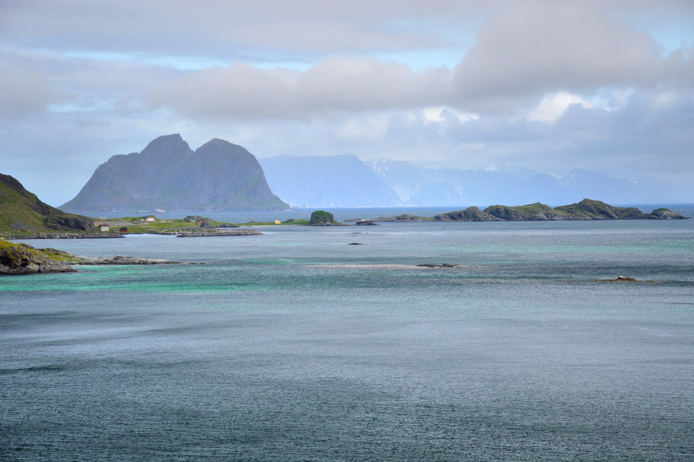 Vaeroy and other Lofoten Islands in the background