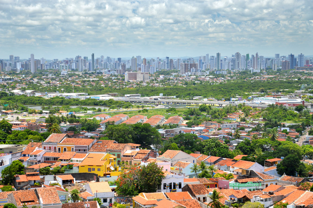 Recife skyline seen from Olinda