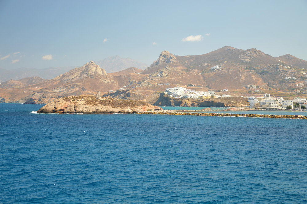 The island of Naxos on the way to Santorini
