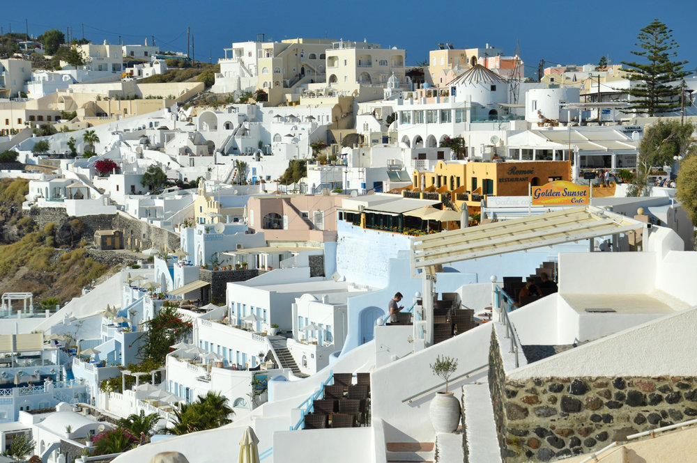 Typicl houses in Santorini