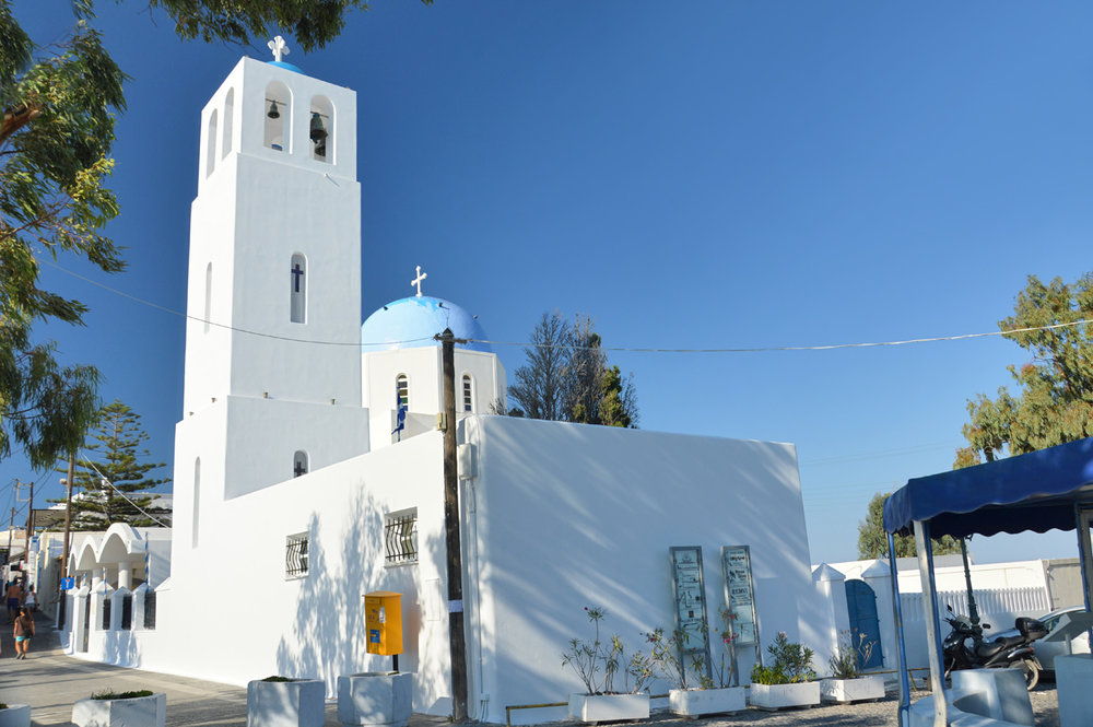 A whitewashed church near Imerovigli