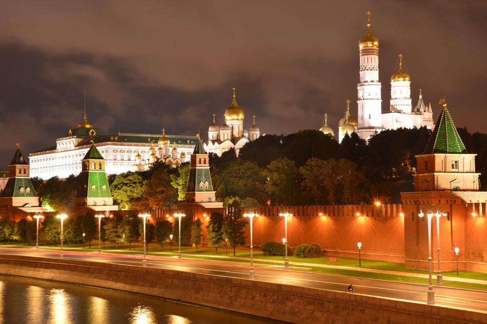 Kremlin at night