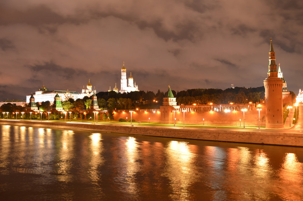 Moskva river and Kremlin walls