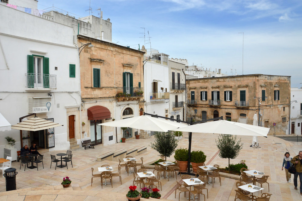 The main square in Ostuni